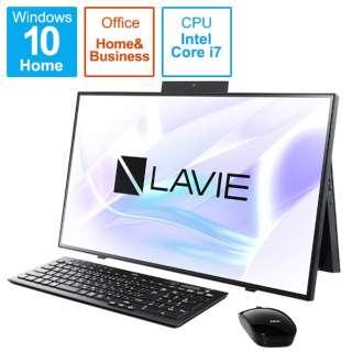 PC-HA700RAB デスクトップパソコン LAVIE Home All-in-one(HA700/RA) ファインブラック [27型 /SSD:512GB /メモリ:8GB /2020年春モデル]
