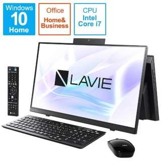 PC-HA770RAB デスクトップパソコン LAVIE Home All-in-one(HA770/RA ダブルチューナ搭載) ファインブラック [23.8型 /HDD:3TB /SSD:256GB /メモリ:8GB /2020年春モデル]