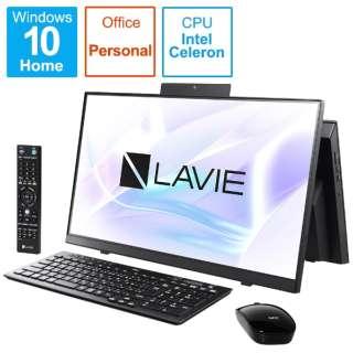PC-HA370RAB デスクトップパソコン LAVIE Home All-in-one(HA370/RA シングルチューナ搭載) ファインブラック [23.8型 /HDD:1TB /メモリ:8GB /2020年春モデル]