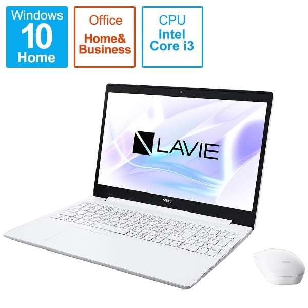 PC-NS310RAW-2 ノートパソコン LAVIE Note Standard(NS300/RA) カームホワイト [15.6型 /intel Core i3 /SSD:256GB /メモリ:8GB /2020年春モデル]