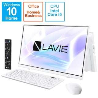 PC-HA570RAW-2 デスクトップパソコン LAVIE Home All-in-one(HA570/RA シングルチューナ搭載) ファインホワイト [23.8型 /HDD:1TB /Optane:16GB /メモリ:8GB /2020年春モデル]