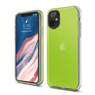elago エラゴ HYBRID CASE for iPhone11 (Neon Yellow) ネオンイエロー EL_IKMCSPTHB_NY