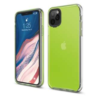 elago エラゴ HYBRID CASE for iPhone11 Pro Max (Neon Yellow) ネオンイエロー EL_IKLCSPTHB_NY