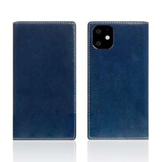 iPhone11 Tamponata Leather case Blue