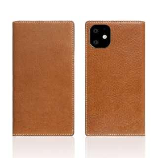 iPhone11 Tamponata Leather case Tan