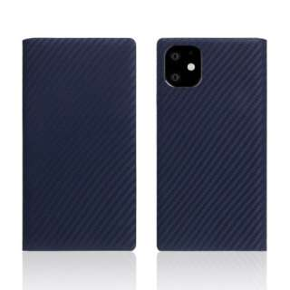 iPhone11 carbon leather case Navy