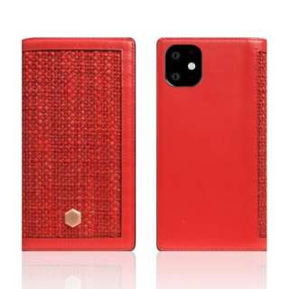 iPhone11 Edition Calf Skin Leather Diary レッド