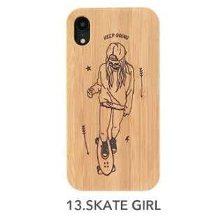 [iPhone XR専用]kibaco BAMBOO RUBBER CASE kibaco SKATE GIRL 663-104191