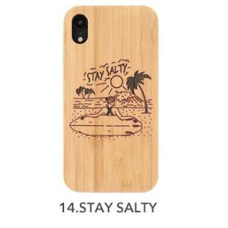 [iPhone XR専用]kibaco BAMBOO RUBBER CASE kibaco STAY SALTY 663-104207