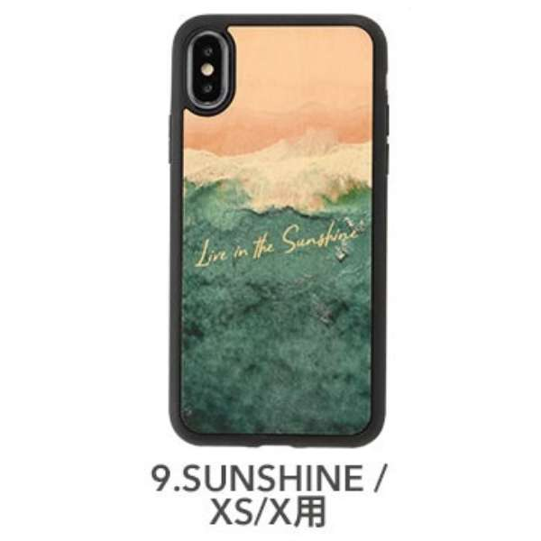 [iPhone XS/X専用]kibaco WOOD iPhone Case kibaco LIVE IN THE SUNSHINE 663-104573
