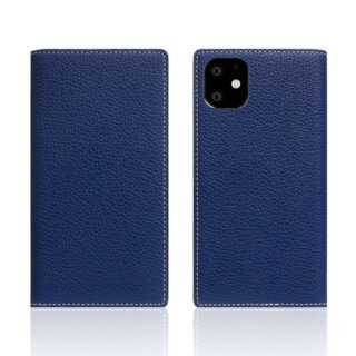 iPhone11 Full Grain Leather Case Navy Blue