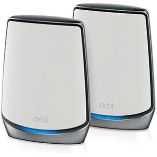 Wi-Fiルーター 2台セット Orbi AX6000 RBK852-100JPS [Wi-Fi 6(ax)/ac/n/a/g/b]