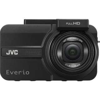 ドライブレコーダー JVC ブラック GC-TR100-B [一体型 /Full HD(200万画素) /前後カメラ対応]