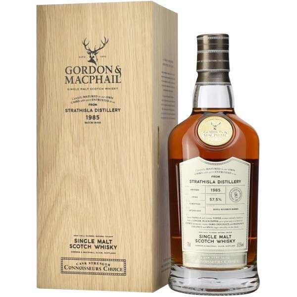 ゴードン&マクファイル コニサーズチョイス ウッデンボックス ストラスアイラ 1985 34年 700ml【ウイスキー】