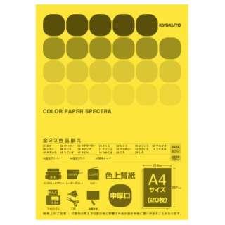 CPC07 〔各種プリンタ〕カラーペーパースペクトラ 80g/m2 [A4 /20枚] やまぶき