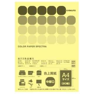 CPC10 〔各種プリンタ〕カラーペーパースペクトラ 80g/m2 [A4 /20枚] カナリア