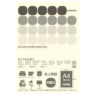 CPC12 〔各種プリンタ〕カラーペーパースペクトラ 80g/m2 [A4 /20枚] アイボリー