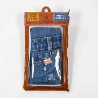 UK Trident iPhoneXs/X Jeansモデル 手帳型ケース UK Trident PSPC-IPHX-VB18eSP