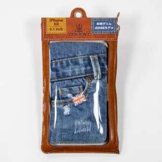UK Trident iPhoneXR Jeansモデル 手帳型ケース UK Trident PSPC-IPHXR-VB18a