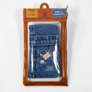 UK Trident iPhone8/7 Jeansモデル 手帳型ケース UK Trident PSPC-IPH7-VB16w