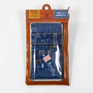 UK Trident iPhone8P/7P Jeansモデル 手帳型ケース UK Trident PSPC-IPH7P-VB16w