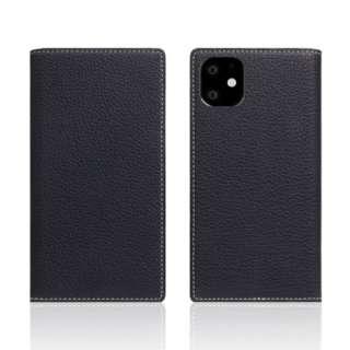 iPhone11 Full Grain Leather Case Black Blue