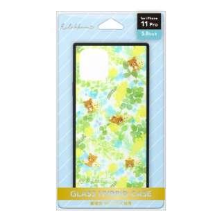 iPhone 11 Pro用 ガラスハイブリッドケース[リラックマ/リラックマスタイル(フラワー)] San-X Collection [リラックマ/リラックマスタイル(フラワー)] YY03102
