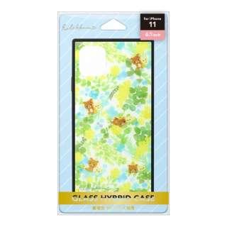 iPhone 11用 ガラスハイブリッドケース[リラックマ/リラックマスタイル(フラワー)] San-X Collection [リラックマ/リラックマスタイル(フラワー)] YY03402