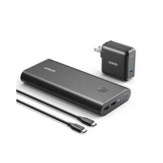 26800 PD 45W black PowerCore+ ブラック B1376111 [26800mAh /USB Power Delivery対応 /3ポート /充電タイプ]
