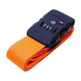 TSAロック付スーツケースベルト ダイヤルロック式 MBZ-SBL02/OR
