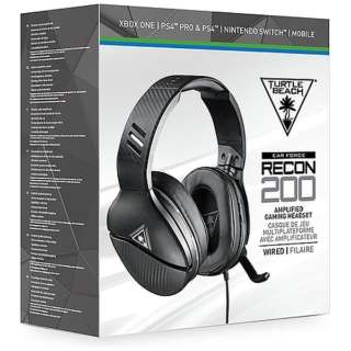 RECON 200 マルチプラットフォーム対応ゲーミングヘッドセット BLACK TBS-3200-01 【PS4/Switch/Xbox One】