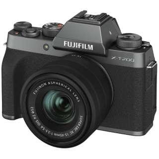 X-T200LK-DS ミラーレス一眼カメラ レンズキット ダークシルバー [ズームレンズ]