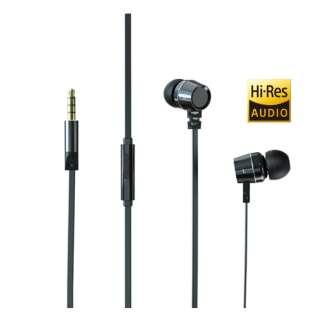 イヤホン カナル型 HP-HM30-B ブラック [リモコン・マイク対応 /φ3.5mm ミニプラグ /ハイレゾ対応]
