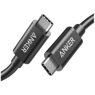 Thunderbolt 3(USB-C) ⇔ Thunderbolt 3(USB-C)ケーブル 映像出力・充電・転送 USB PD対応 100W [0.5m /USB3.1 Gen 2] ブラック A8486011