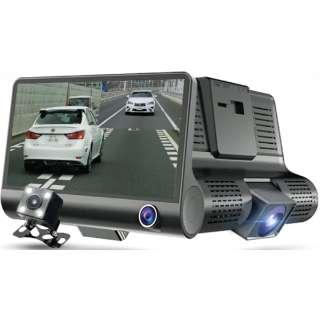 新型3画面同時記録ドライブレコーダー 03817 [Full HD(200万画素) /前後カメラ対応 /駐車監視機能付き]