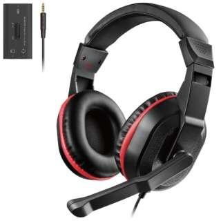 ヘッドセット オーバーヘッド USBミキサー付 PS4 Switch対応 ブラック HS-GM30MBK 【PS4/Switch】