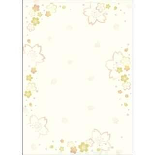 〔各種プリンタ〕 和柄用紙 和ごころ 0.18mm(A4・10枚) 金色桜 4-1045