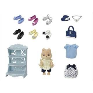 シルバニアファミリー TVS-13 街のファッションコーデセット - おしゃれシューズコレクション -