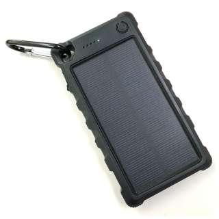 ソーラー充電機能付きモバイルバッテリー ブラック HSB-C10000 [10000mAH /2ポート /充電タイプ]