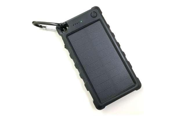 ヒース「ソーラー充電機能付きモバイルバッテリー」HSBC10000