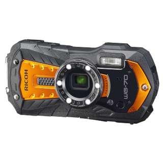 WG-70 コンパクトデジタルカメラ オレンジ [防水+防塵+耐衝撃]