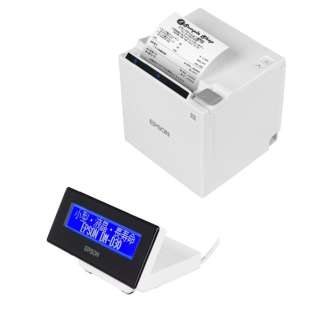 レシートプリンター カスタマーディスプレイセットモデル(TM302H611W+DM-D30W202) ホワイト TM302HD30W
