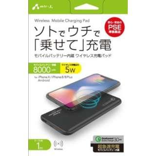 QC3.0対応モバイルワイヤレス充電パッドBK AWJMB8BK