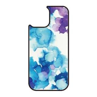 iPhone11 VESTI 着せ替え用背面カバー(ガラスハイブリッド) D.水彩寒色 VESTI