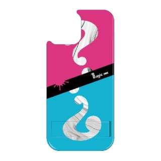 iPhone11 VESTI 着せ替え用背面カバー(PCハード) マジックインキ  E.ピンク&ブルー VESTI vepc5312-e-ip11