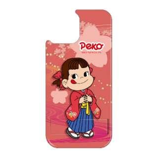 iPhone11 VESTI 着せ替え用背面カバー(PCハード) 不二家  O. ペコ和柄ピンク VESTI vepc5326-o-ip11