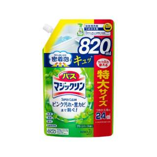 バスマジックリンSCグリーンハーブ スパウトパウチ(820ml) 〔お風呂用洗剤〕