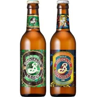 ブルックリン ラガー&ディフェンダーIPA 飲み比べセット 瓶 (330ml/12本)【ビール】