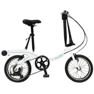 16型 折りたたみ自転車 NuWave16 ニューウェーブ16(ホワイトマリーン/外装6段変速) 【2020年モデル】 【組立商品につき返品不可】