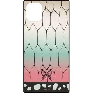 スクエアガラスケース for iPhone11/XR 鬼滅の刃 胡蝶 しのぶ KMY-08F